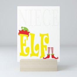 niece elf, christmas, christmas gift, xmas, xmas gift, elf gift Mini Art Print