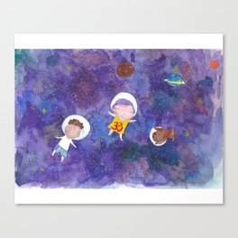 Flying into space Canvas Print