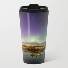 Aurora and the ISS Metal Travel Mug