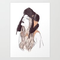 russian Art Prints featuring Russian by Lola Beltrán