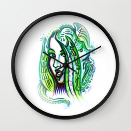 Exposed Inner Demons Wall Clock