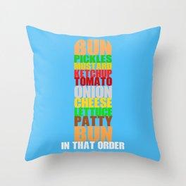 Krabby Patty Throw Pillow