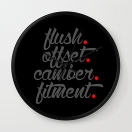 flush offset camber fitment v4 HQvector Wall Clock