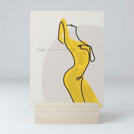 Mustard Moonlight  Mini Art Print
