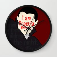 dracula Wall Clocks featuring Dracula by Swell Dame