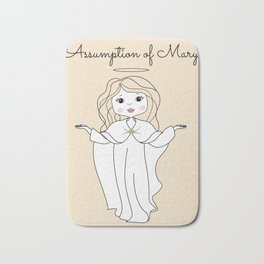 Assumption of Mary - Mary on Heaven - Our Lady of the Navigators Bath Mat
