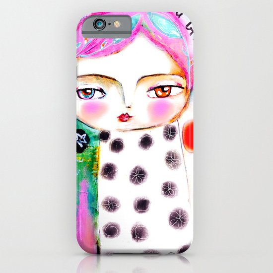 Dream a bit...every day! pink hair girl fish flowers iPhone & iPod Case