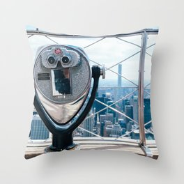 New York Skyline from Empire State Building Throw Pillow
