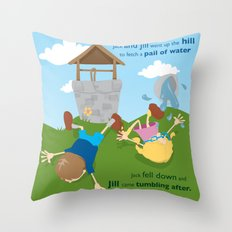 Jack & Jill Throw Pillow