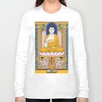 buddha Long Sleeve T-shirts featuring Buddha by Panda Cool