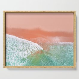 Pink Beach Serving Tray