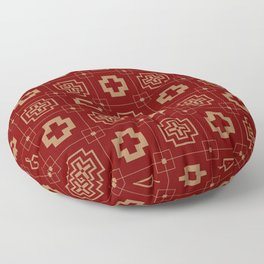 The Directions (Maroon) Floor Pillow