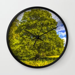 The Farm Tree Art Wall Clock