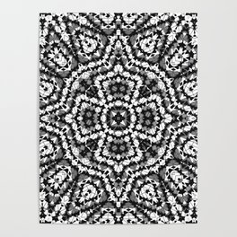 Black and white geometric pattern . The Maltese cross . Poster
