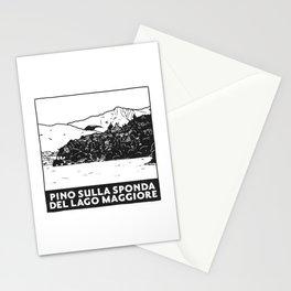 Pino sulla sponda del Lago Maggiore, Italy Stationery Cards