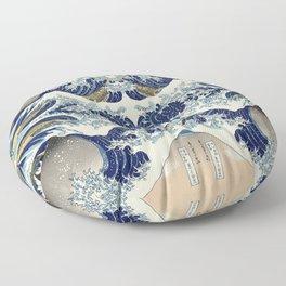 The Great Wave off Kanagawa Symmetry Floor Pillow
