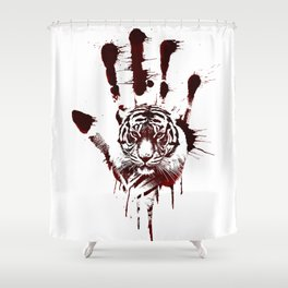 Conflict of Tiger Shower Curtain