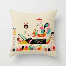 Wired Jungle Throw Pillow