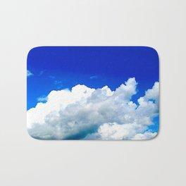 Clouds in a Clear Blue Sky Bath Mat