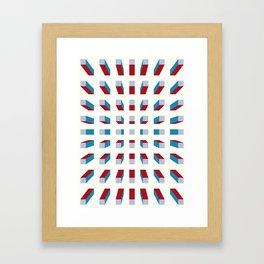 Depth perception - fall in Framed Art Print