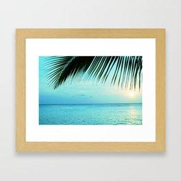 Caribbean Sunset Ocean Palm Dream #2 #tropical #beach #wall #decor #art #society6 Framed Art Print