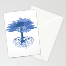 Heart Tree - Blue Stationery Cards