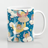 angels Mugs featuring Angels by Helene Michau