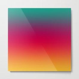 Poseidon - Classic Colorful Warm Abstract Minimal Retro Style Color Gradient Metal Print