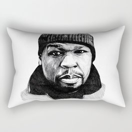 50 Cent Pen Drawing Rectangular Pillow