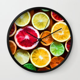 Citrus fruits Wall Clock
