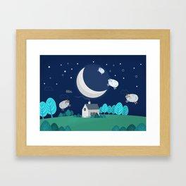What The Sheep Do While You Sleep Framed Art Print