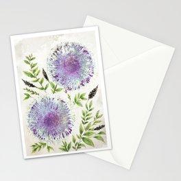 Dandelions Aquamarine Mauve Stationery Cards