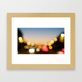 Bokeh Nightlights Framed Art Print