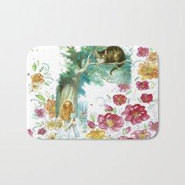 Floral Alice In Wonderland Bath Mat
