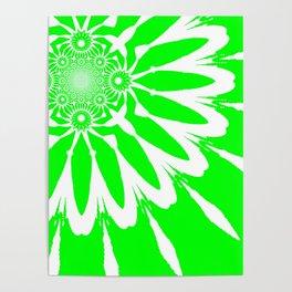 The Modern Flower Lime Green Poster