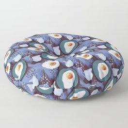 Scrambled eggs and jug. Pattern. Floor Pillow