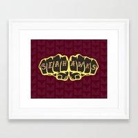 seahawks Framed Art Prints featuring Seaknucks - Seattle Seahawks fan art by Scott Erickson