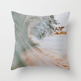 summer waves xiii Throw Pillow