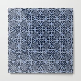 Serenity Geometric Floral Abstract Metal Print