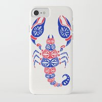 patriotic iPhone & iPod Cases featuring Patriotic Scorpion by Cat Coquillette