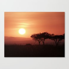 Sunrise in Maasai Mara Canvas Print