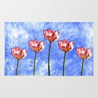 tulip Area & Throw Rugs featuring Tulip by Karl-Heinz Lüpke