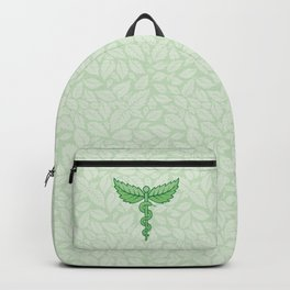 Caduceus with leaves Backpack