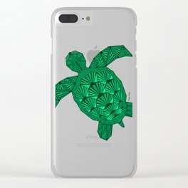 Art Deco Turtle on Black Clear iPhone Case