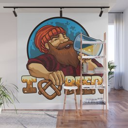 I Love Beer - Oktoberfest Brewery Brew Alcohol Wall Mural