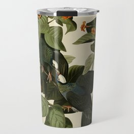 Vintage Bird Print - Birds of America - 177 White-crowned Pigeon (1838) Travel Mug