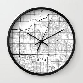 Mesa Map, Arizona USA - Black & White Portrait Wall Clock