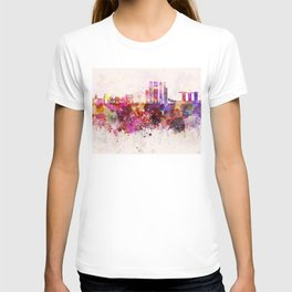 Singapore V2 skyline in watercolor background T-shirt