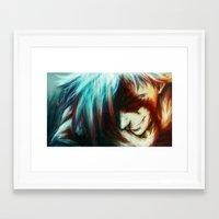 gurren lagann Framed Art Prints featuring Gurren Lagan by ururuty