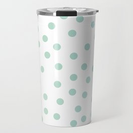 Simply Dots in Turquoise Green Blue Gradient on White Travel Mug